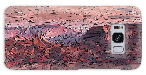 Banded Canyon Abstract Galaxy Case