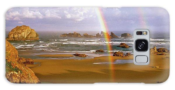 Bandon Beach Rainbow Sunrise Galaxy Case
