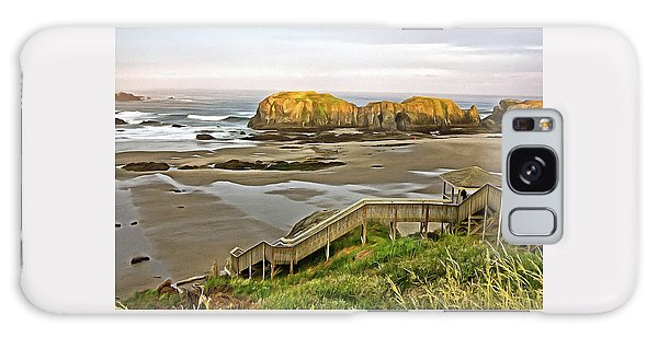 Bandon Beach Stairway Galaxy Case