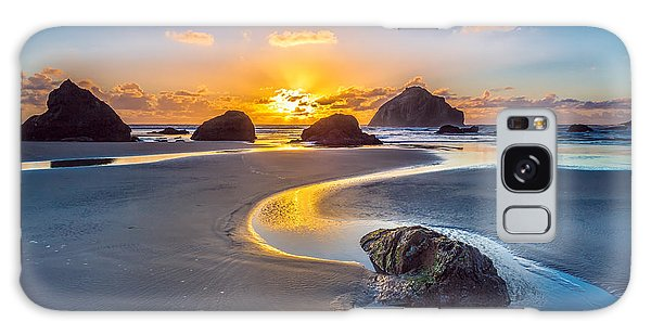 Ocean Sunset Galaxy S8 Case - Bandon Face Rock by Robert Bynum