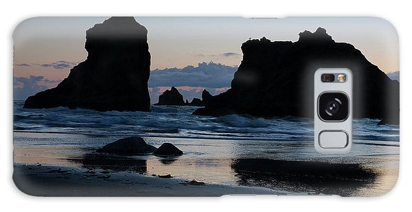Bandon Oregon Sea Stacks Galaxy Case