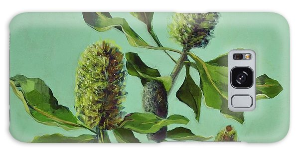 Banksias Australian Flora Painting Galaxy Case