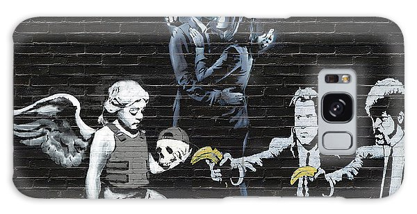 Pop Art Galaxy Case - Banksy - Failure To Communicate by Serge Averbukh