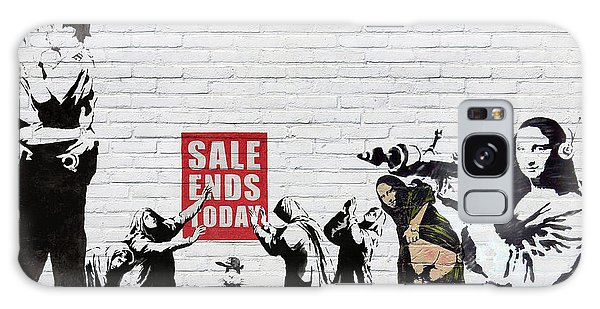 Pop Art Galaxy Case - Banksy - Saints And Sinners   by Serge Averbukh