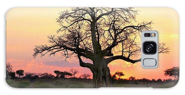 Baobab Tree At Sunset  Galaxy Case