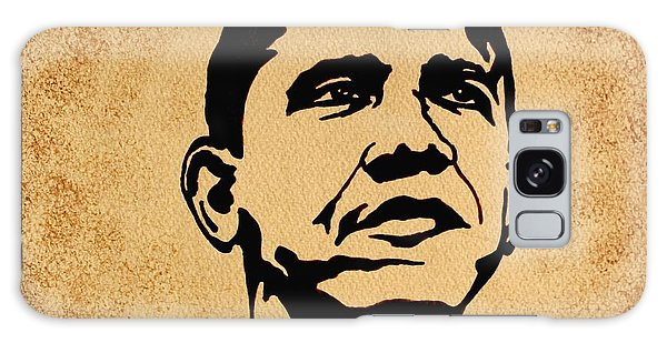 Barack Obama Original Coffee Painting Galaxy Case