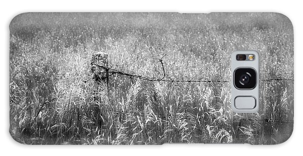 Galaxy Case featuring the photograph Barb Wire Fence by Bill Wakeley