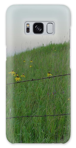Barb Wire Prairie Galaxy Case