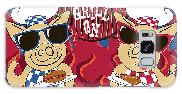 Barbecue Pigs Galaxy Case