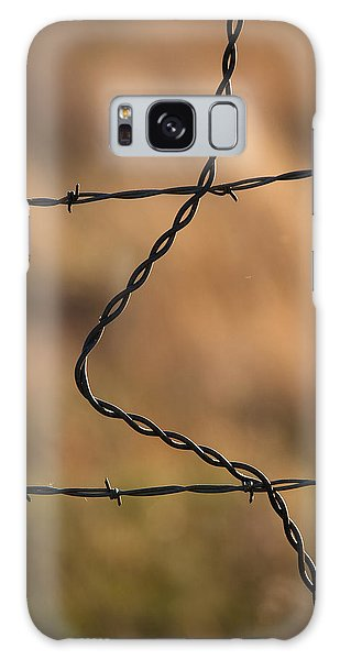 Barbed And Bent Fence Galaxy Case by Monte Stevens