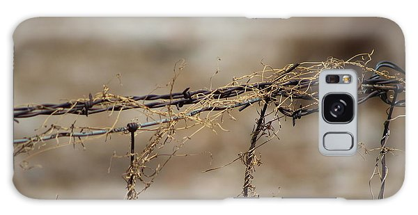 Barbed Wire Entwined With Dried Vine In Autumn Galaxy Case