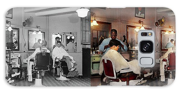 Barber - Senators-only Barbershop 1937 - Side By Side Galaxy Case by Mike Savad