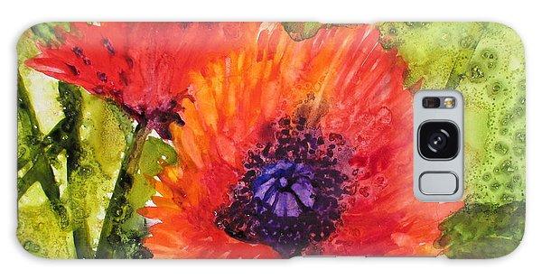 Barbs Poppies Galaxy Case