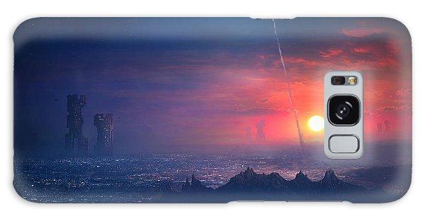 Barcelona Smoke And Neons Montserrat Galaxy Case