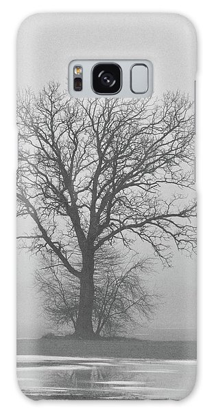 Bare Tree In Fog Galaxy Case