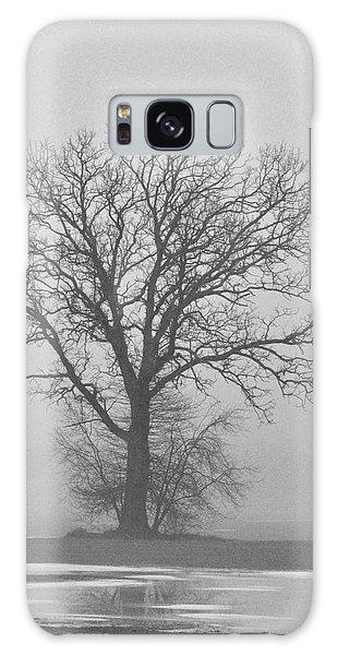 Bare Tree In Fog Galaxy Case by Nancy Landry