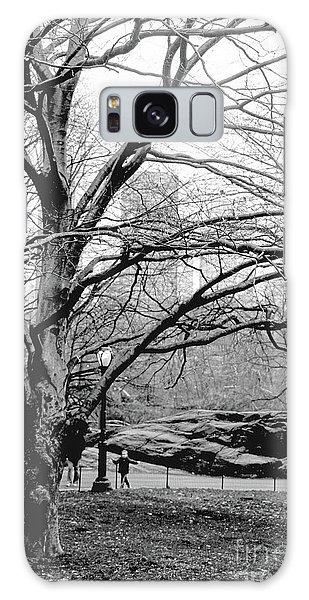 Bare Tree On Walking Path Bw Galaxy Case by Sandy Moulder