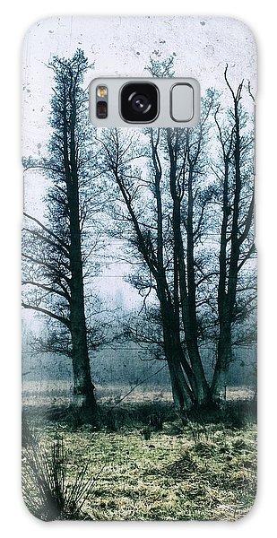 Bare Winter Trees Galaxy Case