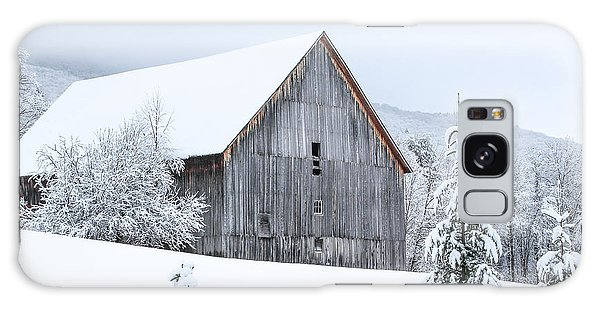 Barn After Snow Galaxy Case by Tim Kirchoff