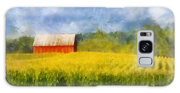 Barn And Cornfield Galaxy Case by Francesa Miller