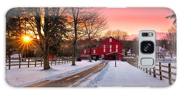 Barn At Sunset  Galaxy Case