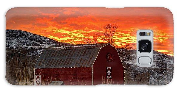 Barn Burner Sunset. Galaxy Case