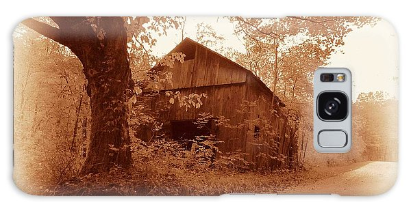 Barn Hocking Co Ohio Sepia Galaxy Case