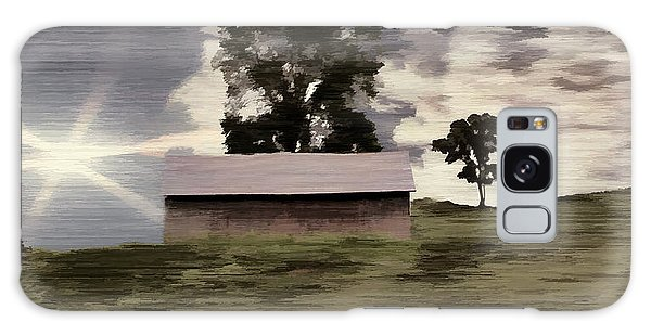 Barn II A Digital Painting Galaxy Case