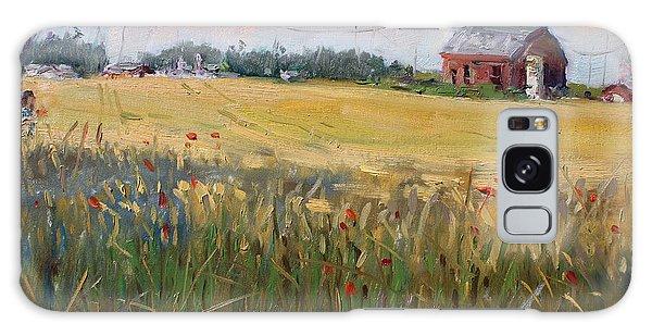 Georgetown Galaxy S8 Case - Barn In A Field Of Grain by Ylli Haruni