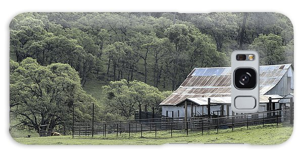 Barn In The Meadow Galaxy Case