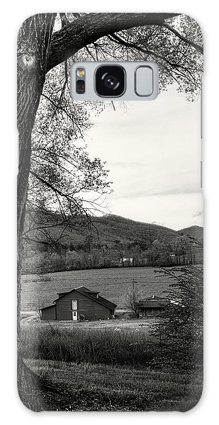 Barn In The Valley In Black And White Galaxy Case by Greg Mimbs
