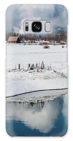 Barn In Winter Galaxy Case