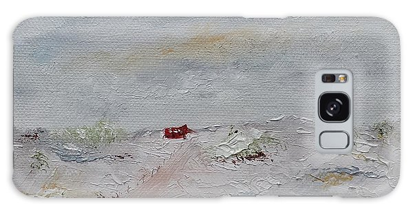 Galaxy Case featuring the painting Barn In Winter by Judith Rhue