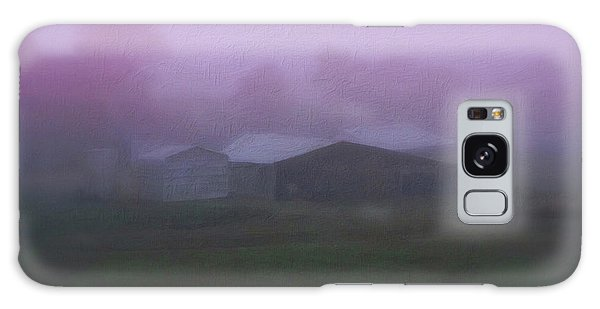 Barn On A Misty Morning Galaxy Case