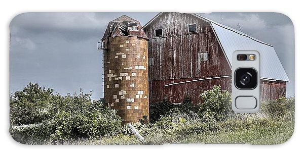 Barn On Hill Galaxy Case
