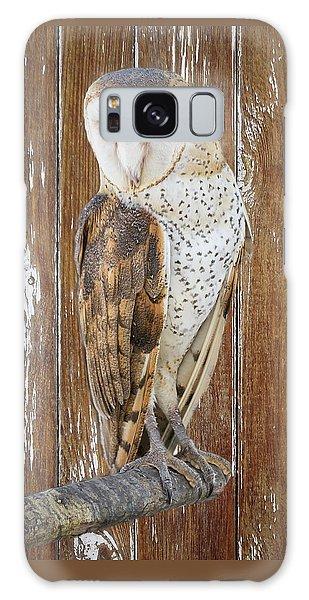 Barn Owl Artistic Portrait Galaxy Case