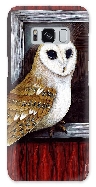 Barn Owl Beauty Galaxy Case