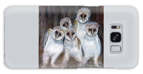Barn Owl Chicks Galaxy Case