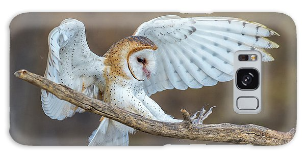 Barn Owl In Flight Galaxy Case