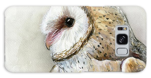 Owl Galaxy Case - Barn Owl Watercolor by Olga Shvartsur