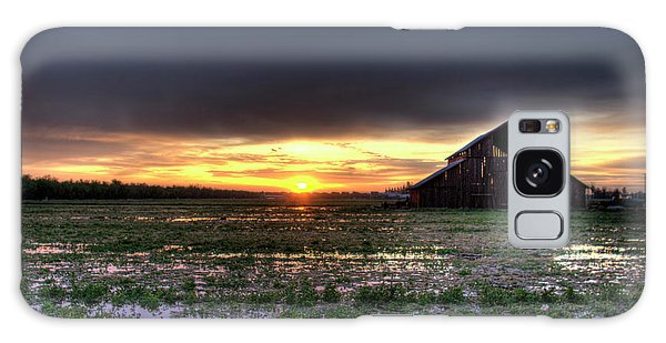 Barn Sunrise Galaxy Case
