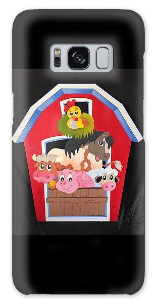 Barn With Animals Galaxy Case