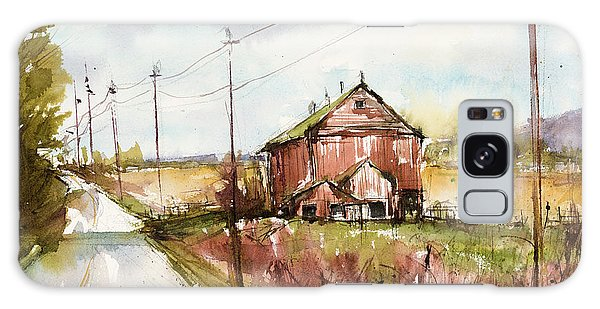 Barns And Electric Poles, Sunday Drive Galaxy Case