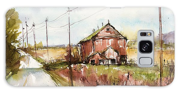 Barns And Electric Poles, Sunday Drive Galaxy Case by Judith Levins