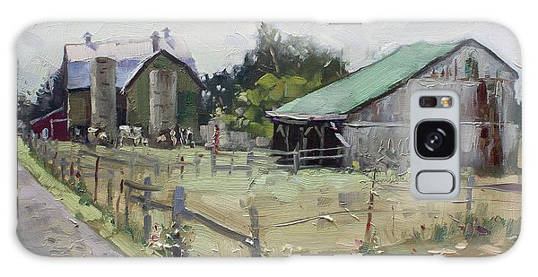 Old Road Galaxy Case - Barns And Old Shack In Norval by Ylli Haruni