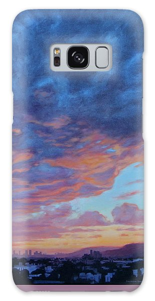 Barnsdall Hill Galaxy Case by Andrew Danielsen