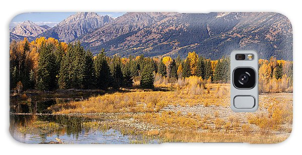 Bull In The Beaver Ponds Galaxy Case by Aaron Whittemore