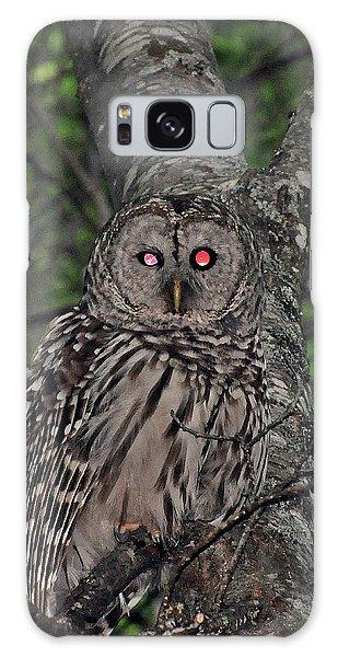 Barred Owl 3 Galaxy Case by Glenn Gordon