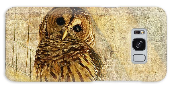Feathers Galaxy Case - Barred Owl by Lois Bryan