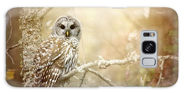 Barred Owl - Woodland Fellow Galaxy Case by Beve Brown-Clark Photography